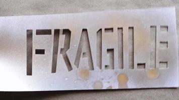 palabra de plantilla frágil video