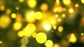 Fondo de movimiento de burbujas 4k dorado