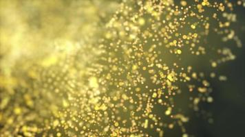 sphères dorées fond de mouvement 4k