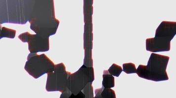 cubos espirais de arco-íris difuso em 4k video