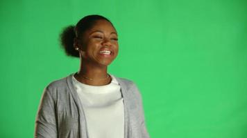 Young African American Woman Laughing Dancing 1