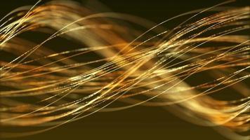 linee sottili dorate che fluttuano nell'aria come capelli grigi su uno sfondo scuro