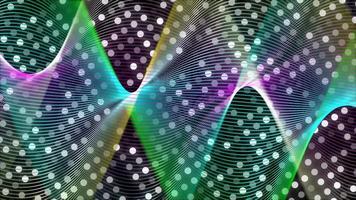 maglia multicolore formata con linee su sfondo 4K punteggiato