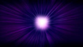 llamarada brillante que brilla intensamente con rayos de luz púrpura sobre fondo oscuro