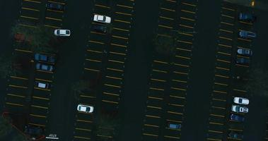 Aerial Drone Shot of Oregon Parking Lot in 4K