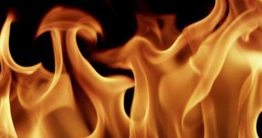 cálida textura de llamas de fuego en cámara lenta de 4k