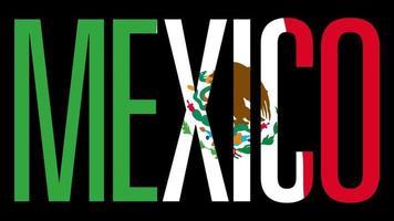 bandeira da Grécia com máscara de tipo em primeiro plano. México. video