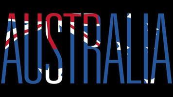 bandeira da austrália com máscara de tipo em primeiro plano