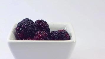 moras pequeñas en un tazón blanco