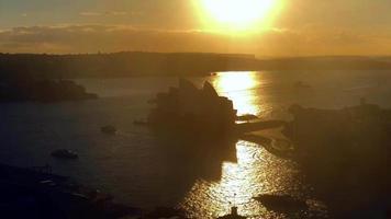 ópera de Sydney, nascer do sol 4k video
