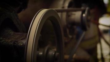 Luftkompressormechanismus in der Garage