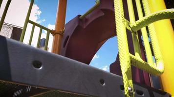 Girl In Slider Playground
