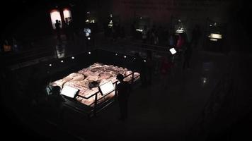 Scène dans la galerie du musée du templo mayor