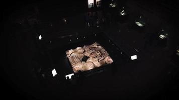grande galeria de pedra do museu do templo mayor video
