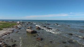 Paysage côtier à kap arkona sur ruegen island mer baltique