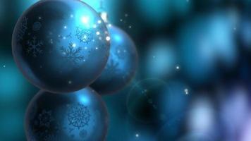 decoração de natal e ano novo. abstrato azul turva fundo de férias bokeh. luzes da árvore de Natal cintilantes.