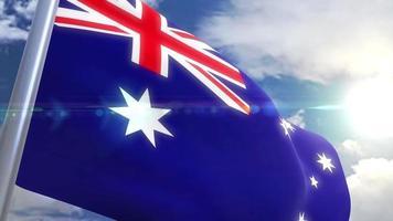 Ondeando la bandera de la animación de Australia video