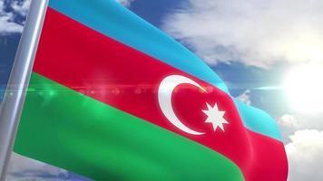 bandera ondeante de azerbaiyán animación video