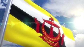 acenando a bandeira do brunei animação