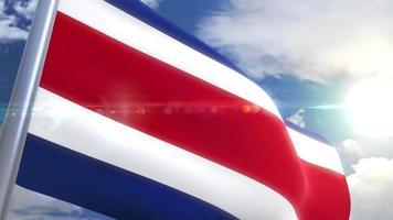 animação da bandeira da costa rica