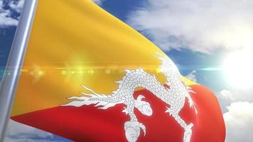 animação da bandeira do butão
