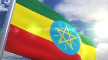 Bandeira da Etiópia com animação