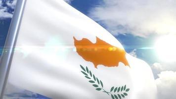 agitando bandeira de animação de chipre