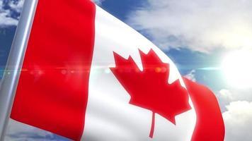 agitando bandeira do canadá animação