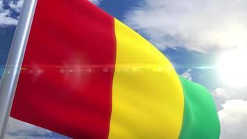 Bandeira da Guiné com animação
