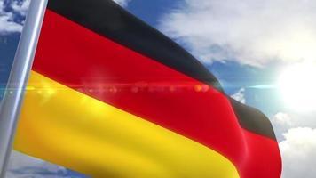 bandera ondeante de alemania animación