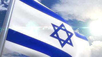 agitando a bandeira de israel animação
