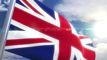 Bandeira do Reino Unido com animação