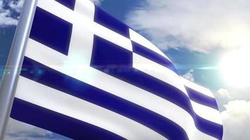 Ondeando la bandera de la animación de Grecia video