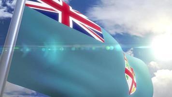Bandeira de animação de fiji