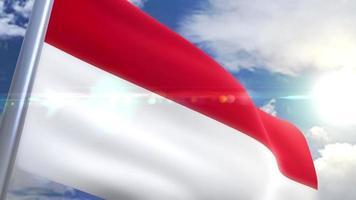 animação da bandeira da Indonésia