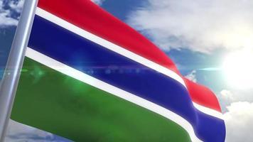 Bandeira da Gâmbia com animação