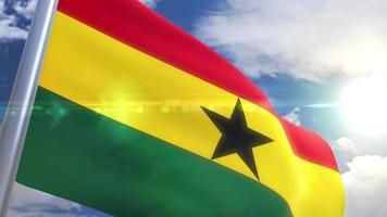 Ondeando la bandera de la animación de Ghana video