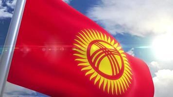 Bandeira do Quirguistão animação
