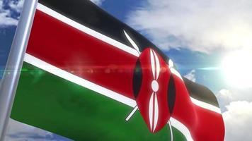 Bandeira do Quênia com animação