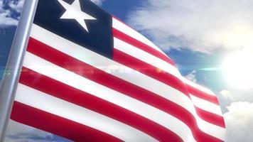 animação da bandeira da Libéria