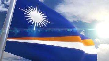 animação da bandeira das Ilhas Marshall