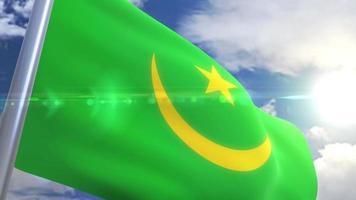 animação da bandeira da mauritânia