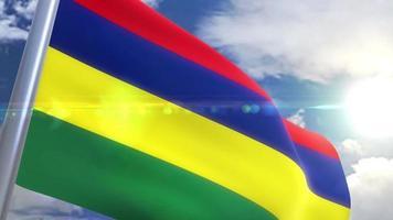 agitando bandeira da animação maurícia