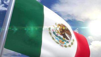 Ondeando la bandera de la animación de México video