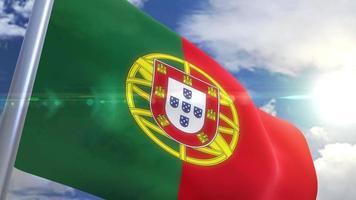 agitando bandeira de animação portugal