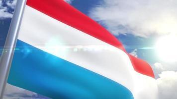 agitando bandeira do luxemburgo animação