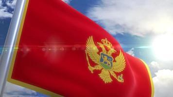 agitando bandeira de montenegro animação