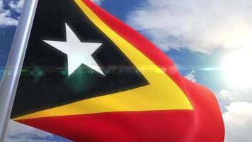 animação da bandeira do timor-leste
