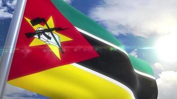 agitando bandeira de moçambique animação