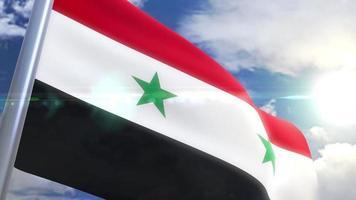 animação da bandeira da Síria